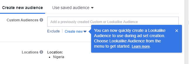 facebook campaign custom audience